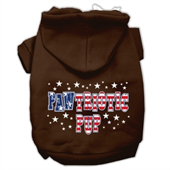 Mirage Pet Products Pawtriotic Pup Screen Print Pet Hoodies Brown Size Sm (10)