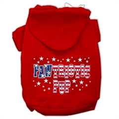 Mirage Pet Products Pawtriotic Pup Screen Print Pet Hoodies Red Size L (14)