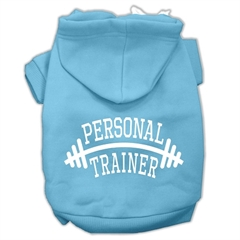 Mirage Pet Products Personal Trainer Screen Print Pet Hoodies Baby Blue Size Sm (10)