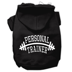 Mirage Pet Products Personal Trainer Screen Print Pet Hoodies Black Size XL (16)