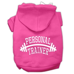 Mirage Pet Products Personal Trainer Screen Print Pet Hoodies Bright Pink Size XL (16)