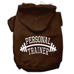 Mirage Pet Products Personal Trainer Screen Print Pet Hoodies Brown Size XS (8)