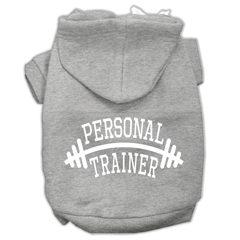 Mirage Pet Products Personal Trainer Screen Print Pet Hoodies Grey Size XL (16)
