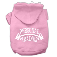 Mirage Pet Products Personal Trainer Screen Print Pet Hoodies Light Pink Size XXL (18)