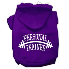 Mirage Pet Products Personal Trainer Screen Print Pet Hoodies Purple Size Sm (10)
