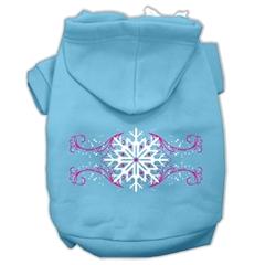 Mirage Pet Products Pink Snowflake Swirls Screenprint Pet Hoodies Baby Blue Size XXXL (20)