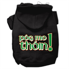 Mirage Pet Products Pog Mo Thoin Screen Print Pet Hoodies Black Size XL (16)