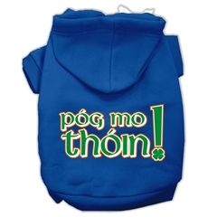 Mirage Pet Products Pog Mo Thoin Screen Print Pet Hoodies Blue Size XL (16)