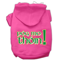 Mirage Pet Products Pog Mo Thoin Screen Print Pet Hoodies Bright Pink Size Sm (10)