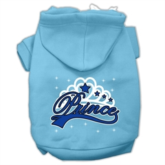Mirage Pet Products I'm a Prince Screen Print Pet Hoodies Baby Blue Size Lg (14)