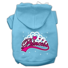 Mirage Pet Products I'm a Princess Screen Print Pet Hoodies Baby Blue Size Med (12)