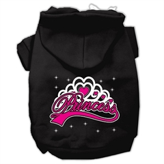 Mirage Pet Products I'm a Princess Screen Print Pet Hoodies Black Size XL (16)