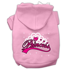 Mirage Pet Products I'm a Princess Screen Print Pet Hoodies Light Pink Size Sm (10)