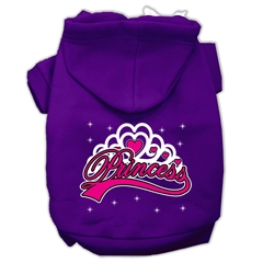 Mirage Pet Products I'm a Princess Screen Print Pet Hoodies Purple Size Med (12)