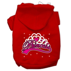 Mirage Pet Products I'm a Princess Screen Print Pet Hoodies Red Size XXXL (20)