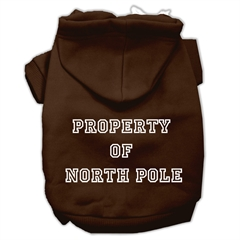 Mirage Pet Products Property of North Pole Screen Print Pet Hoodies Brown Size L (14)