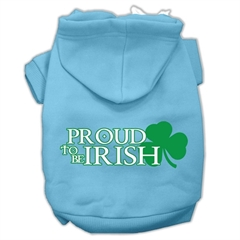 Mirage Pet Products Proud to be Irish Screen Print Pet Hoodies Baby Blue Size XL (16)