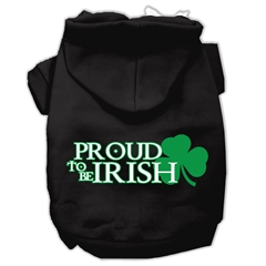 Mirage Pet Products Proud to be Irish Screen Print Pet Hoodies Black Size XS (8)