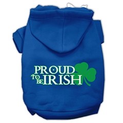 Mirage Pet Products Proud to be Irish Screen Print Pet Hoodies Blue Size XL (16)