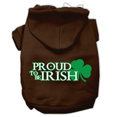 Mirage Pet Products Proud to be Irish Screen Print Pet Hoodies Brown Size XXL (18)