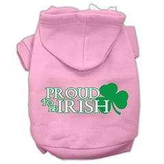Mirage Pet Products Proud to be Irish Screen Print Pet Hoodies Light Pink Size XL (16)