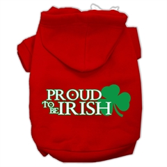 Mirage Pet Products Proud to be Irish Screen Print Pet Hoodies Red Size XXXL (20)