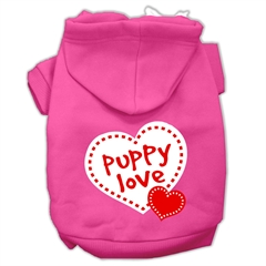 Mirage Pet Products Puppy Love Screen Print Pet Hoodies Bright Pink Size Sm (10)