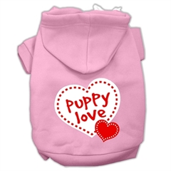 Mirage Pet Products Puppy Love Screen Print Pet Hoodies Light Pink Size Sm (10)