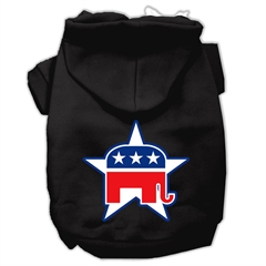 Mirage Pet Products Republican Screen Print Pet Hoodies Black Size Med (12)