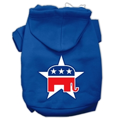 Mirage Pet Products Republican Screen Print Pet Hoodies Blue Size XS (8)
