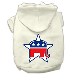 Mirage Pet Products Republican Screen Print Pet Hoodies Cream Size XS (8)