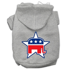 Mirage Pet Products Republican Screen Print Pet Hoodies Grey Size XL (16)