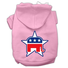 Mirage Pet Products Republican Screen Print Pet Hoodies Light Pink Size XXXL (20)