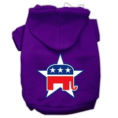 Mirage Pet Products Republican Screen Print Pet Hoodies Purple Size XL (16)