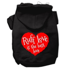 Mirage Pet Products Ruff Love Screen Print Pet Hoodies Black Size XS (8)