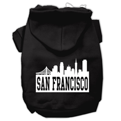 Mirage Pet Products San Francisco Skyline Screen Print Pet Hoodies Black Size XXXL (20)