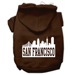 Mirage Pet Products San Francisco Skyline Screen Print Pet Hoodies Brown Size XXXL (20)