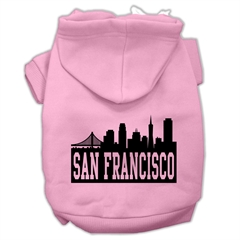 Mirage Pet Products San Francisco Skyline Screen Print Pet Hoodies Light Pink Size XL (16)