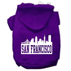 Mirage Pet Products San Francisco Skyline Screen Print Pet Hoodies Purple Size XXXL (20)