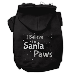 Mirage Pet Products Screenprint Santa Paws Pet Hoodies Black Size Lg (14)