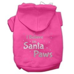 Mirage Pet Products Screenprint Santa Paws Pet Hoodies Bright Pink Size Med (12)