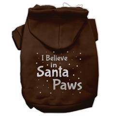 Mirage Pet Products Screenprint Santa Paws Pet Hoodies Brown Size Med (12)