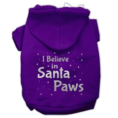 Mirage Pet Products Screenprint Santa Paws Pet Hoodies Purple Size XL (16)