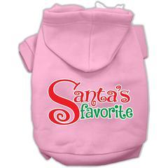 Mirage Pet Products Santas Favorite Screen Print Pet Hoodie Light Pink XS (8)