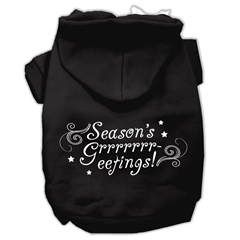 Mirage Pet Products Seasons Greetings Screen Print Pet Hoodies Black Size M (12)