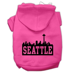 Mirage Pet Products Seattle Skyline Screen Print Pet Hoodies Bright Pink Size XL (16)