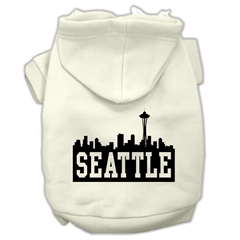 Mirage Pet Products Seattle Skyline Screen Print Pet Hoodies Cream Size XXL (18)
