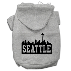 Mirage Pet Products Seattle Skyline Screen Print Pet Hoodies Grey Size Med (12)