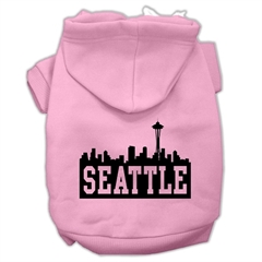 Mirage Pet Products Seattle Skyline Screen Print Pet Hoodies Light Pink Size XL (16)
