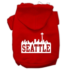 Mirage Pet Products Seattle Skyline Screen Print Pet Hoodies Red Size XS (8)